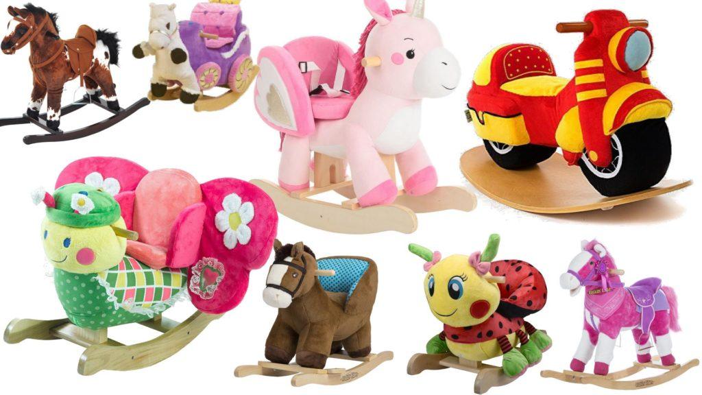 Plush Rocking Horses Animal Ride On Toys For Children Kids