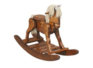 Extra Large Wooden Rocking Horse For Toddlers Kids Children