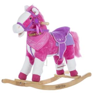 Rockin Rider Pink Plush Rocking Horse For Girls W Sounds
