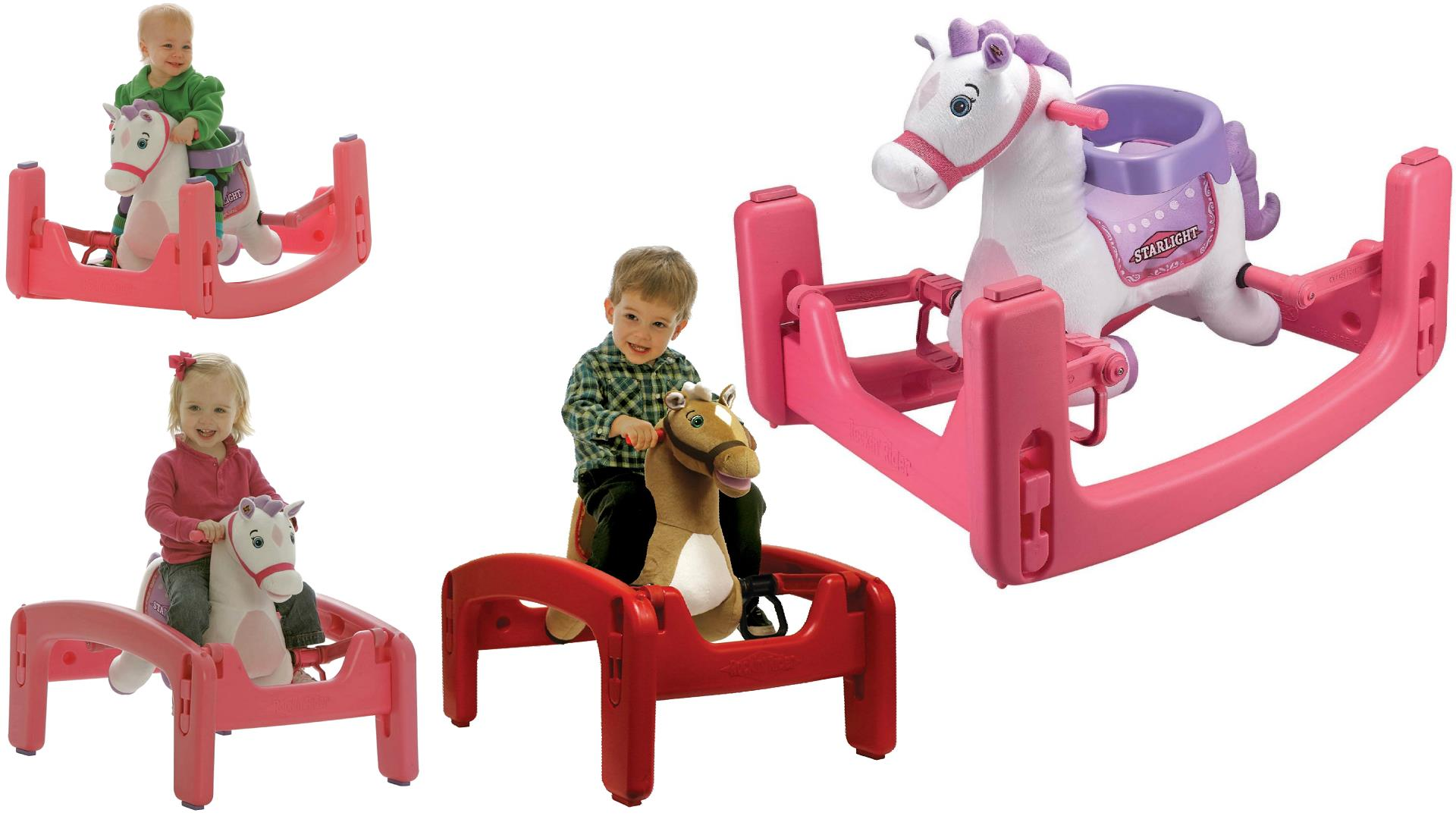 Rockin rider grow with me rocking horses ponies seat