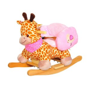 Qaba Rocking Giraffe With Safety Seat Chair Babies Animal Ride On Toy