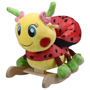 Rockabye Lulu Ladybug Plush Rocker For 1   2 Years Old Babies Toddlers