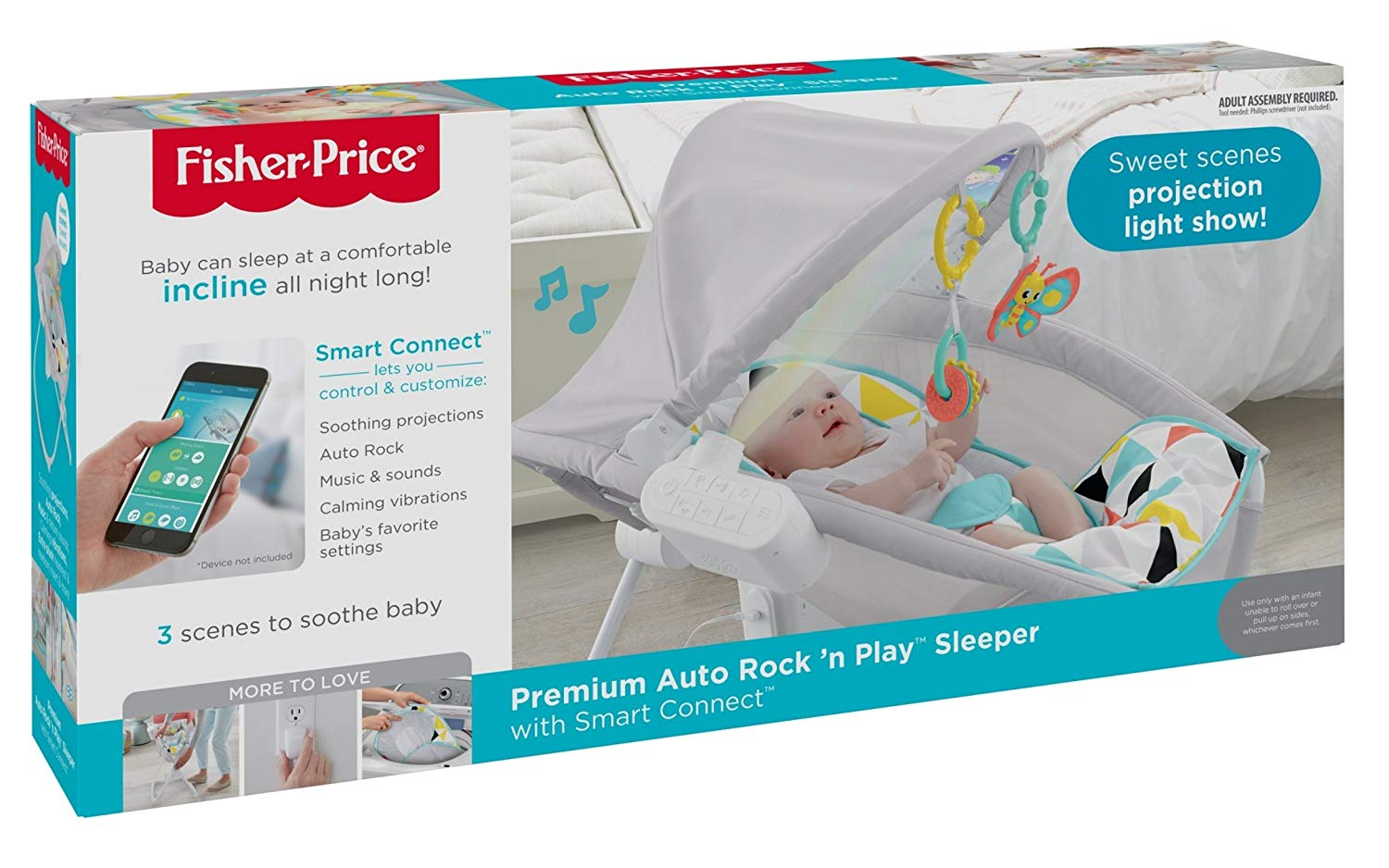 Fisher Price Premium Auto Rock N Play Sleeper W Smartconnect How It Works Kids Rocking Horse Toys