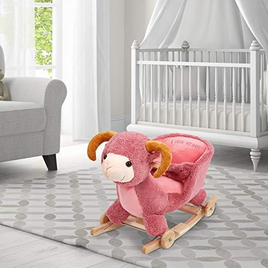 Superb Adorable Plush Rocking Animal Chairs For Babys Nursery Inzonedesignstudio Interior Chair Design Inzonedesignstudiocom