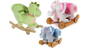 Wooden Rocking Horse SYNTECSO Baby Rocking Horse Kids Ride-On Toys for Indoor /& Outdoor for Toddlers 1-3 Year Children Birthday Gift