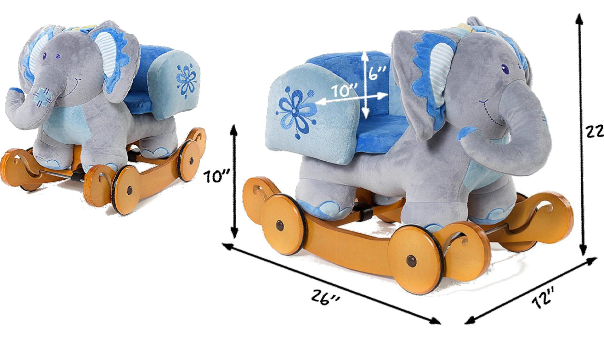Elephant Rocker With Chair Seat Baby Toddler Ride On Toy