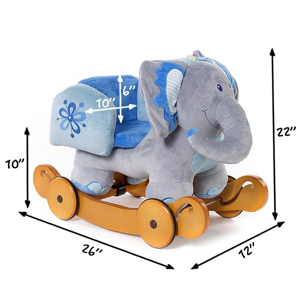 Groovy Elephant Rocker With Chair Seat For Babies Toddlers To Sit Gmtry Best Dining Table And Chair Ideas Images Gmtryco