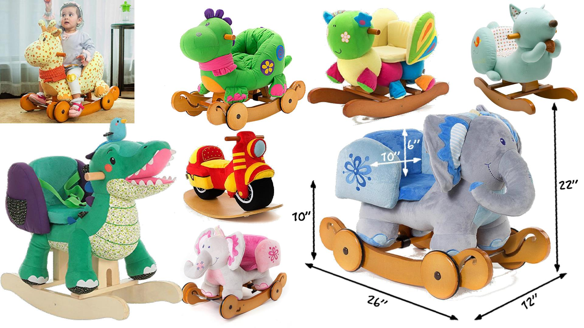 labebe rocking horses animals with seats for babies toddlers ride
