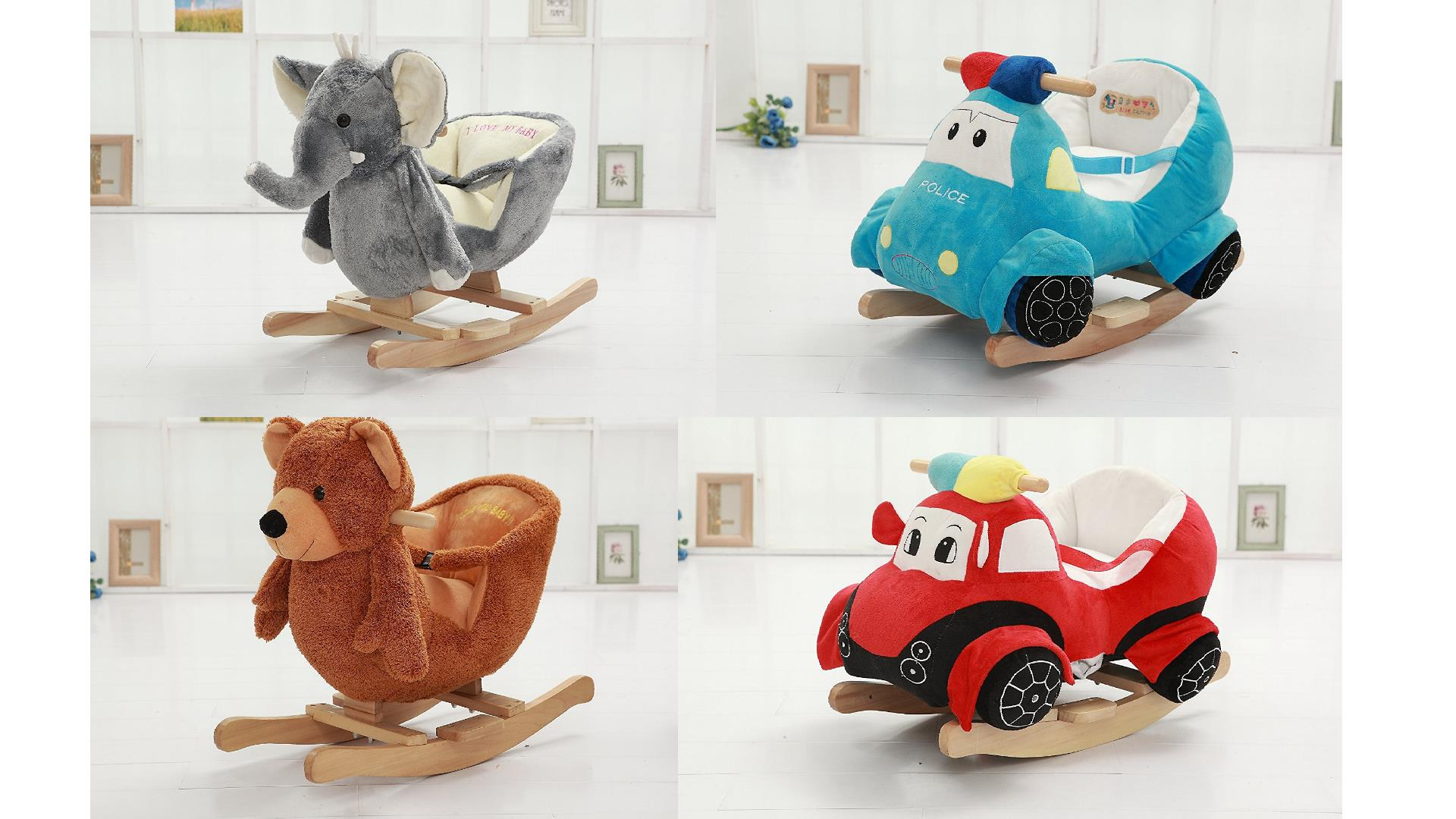 Best Plush Rocking Horses & Animals w Seats for Babies Toddlers