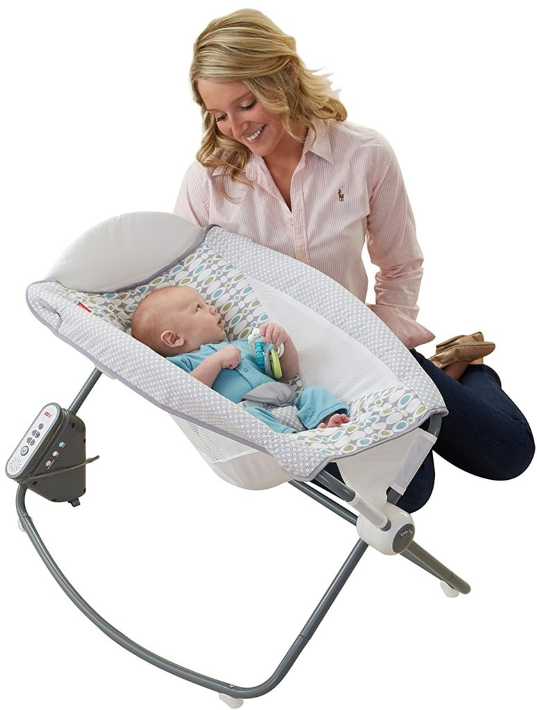 Fisher Price Auto Rock N Play Baby Sleeper Handy Features