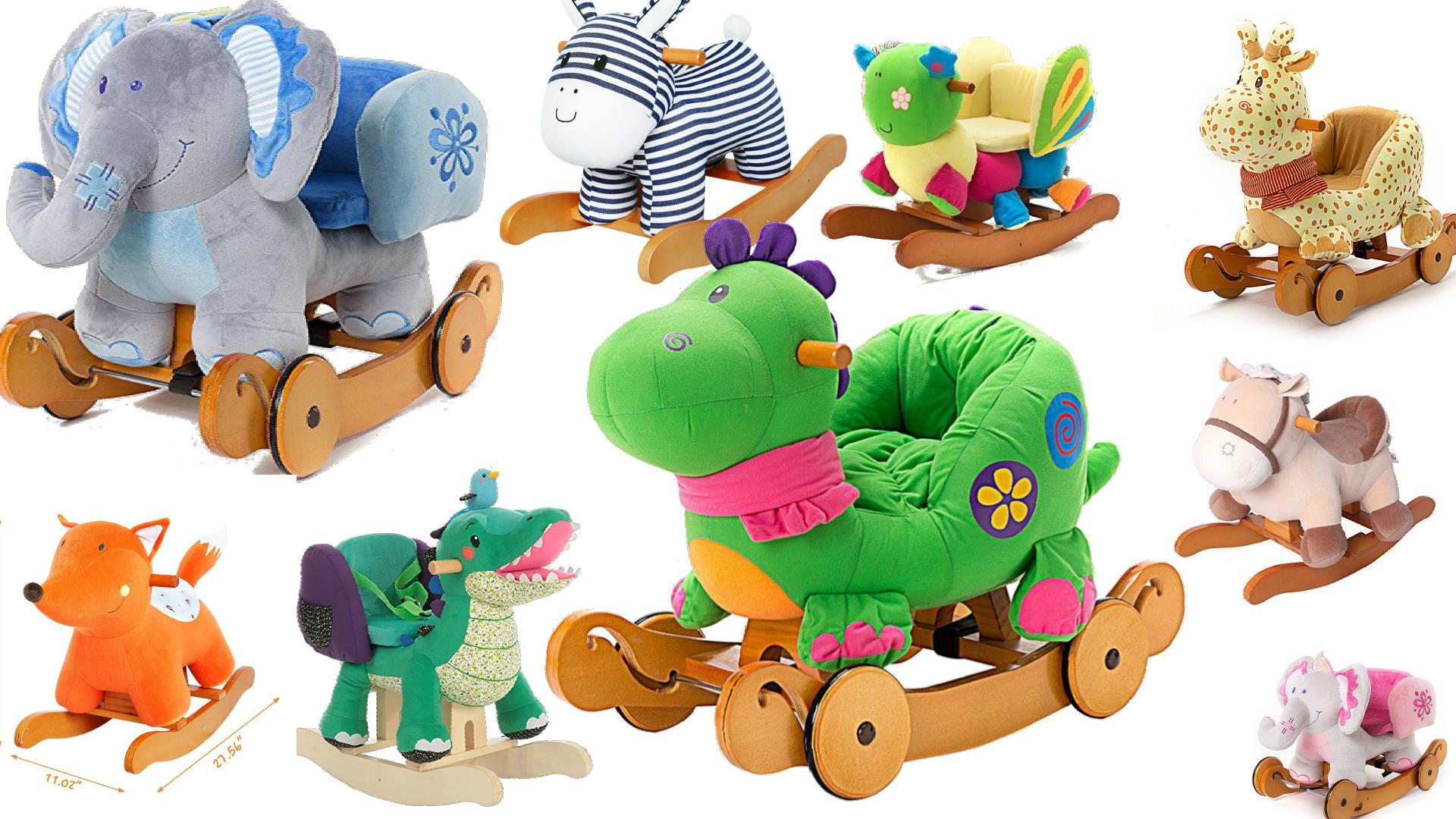 plush animal rocking chairs for baby toddler kids rocking horse toys