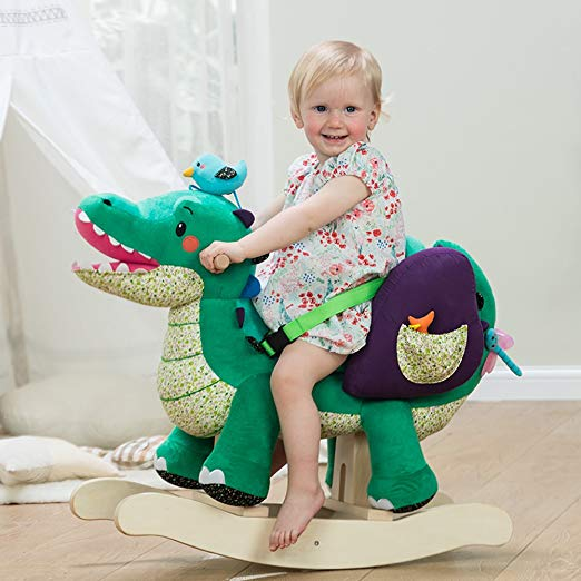 Large Stuffed Plush Rocking Chair Crocodile For Baby